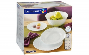 Set serviciu masa portelan 19buc.Luminarc Trianon