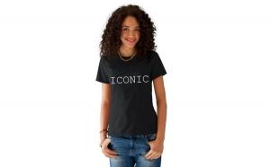 Tricou dama negru -  ICONIC