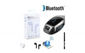 Modulator FM + cadou casca Bluetooth Handsfree