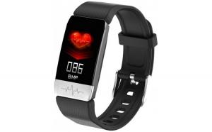 Bratara Fitness Techstar® T1 Negru  ECG  Puls  Oxigenarea Sangelui  Temperatura Corpului  Bluetooth  Sedentarism  Alerte