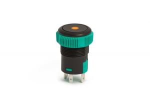 09151OR - Buton de comanda 12V ND, LED Portocaliu GLZ-09151OR