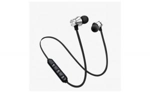 Casti Wireless Bluetooth Sport BT4 Waterproof Tip In-Ear Headset Microfon Incorporat Argintii