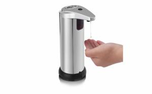 Dispenser sapun cu senzor automat, Argintiu, Inox