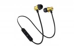 Casti Wireless Bluetooth Sport BT4  Waterproof  Tip In-Ear Headset  Microfon Incorporat  Auriu