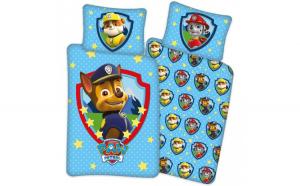 Set lenjerie pat copii Paw Patrol Stars