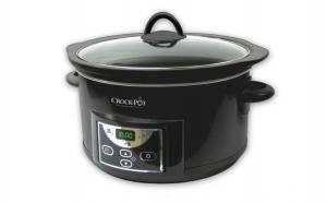 Aparat de gatit Crock Pot slow cooker 4.7 L, Digital, negru, la 450 RON