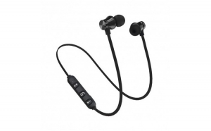Casti Wireless Bluetooth Sport BT4  Waterproof  Tip In-Ear Headset  Microfon Incorporat  Negru