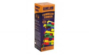 Joc Jenga Tumblin Tower Blocks, 48 piese colorate