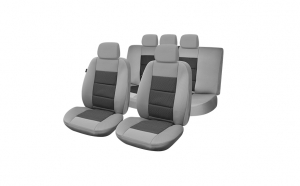Huse scaune auto compatibile LAND ROVER Freelander II (4 usi) 2006-2014 PLUX (Gri UMB4)