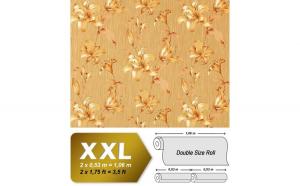Tapet bej model floral in relief cu finisaj luminat 978-36