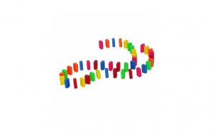 Joc Domino multicolor, 42 piese, multicolor