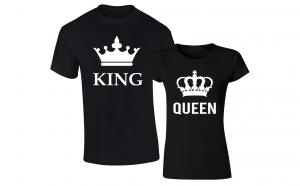 """Set tricouri de cuplu """"King/Queen -Big"""""""