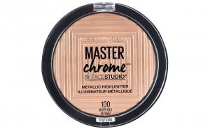 Iluminator Maybelline New York Master Chrome Metallic 100 Molten Gold, 9 g