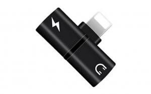 Mini Adaptor Lightning Splitter IUni Dual Port, Pentru Casti Si Incarcare IPhone