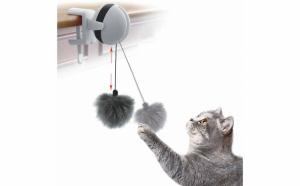 Jucarie interactiva pentru pisici sau alte animale de companie, tip yo-yo electric, automat