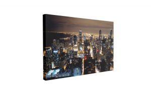 Tablou Canvas Zgârie-Norii din Chicago, 50 x 70 cm, 100% Poliester