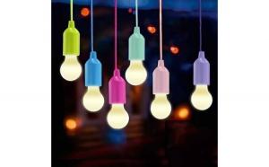Set 4 becuri LED portabil cu cordon