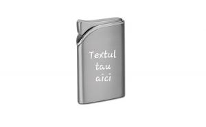 Bricheta personalizata metalica antivant gravata cu textul tau