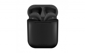 Casti i88 TWS Techstar®  Bluetooth si Wireless Pentru Android si iOS  BT 5.0  Rezistente la apa  Negru
