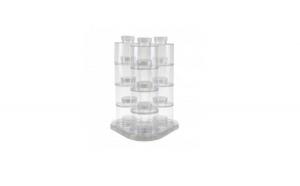Set 12 recipiente pentru condimente cu stativ rotativ