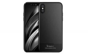 Husa Apple iPhone X IPAKY Carbon Fiber Negru