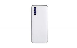 Baterie externa Smart Power Bank, 30000 mAh, 3 x USB /culoare negru si alb