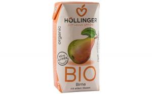 Suc de pere Bio cu pai Hollinger, 200 ml HOLLINGER