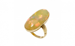 Inel aur galben 18K cu opal
