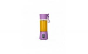 Blender portabil, cu USB, 380ml, violet,