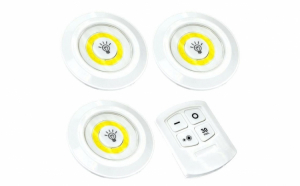 Set 3 lampi LED wireless - cu telecomanda