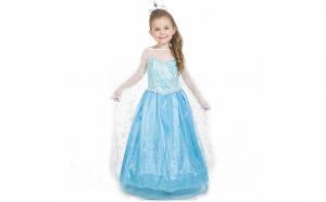 Rochie fetite Elsa - Frumoasa Regina a Zapezii, 5-6 ani