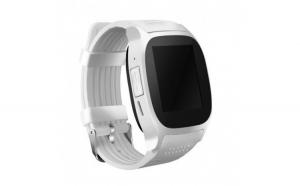 Ceas Smartwatch Techstar® T8 Alb  Cartela SIM  1.54 inch  Apelare  Radio FM  Alerte  Sedentarism  Hidratare  Bluetooth 4.0