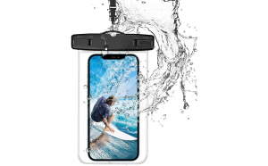 Husa impermeabila smartphone transparent