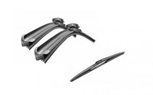 Pachet stergatoare parbriz si stergator luneta Bosch AeroTwin - Kia Rio, Hyundai Accent 3 2005-2010