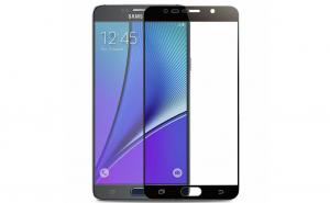 Folie de sticla securizata Full Screen - Samsung Galaxy Note 5, negru