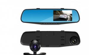 Oglinda retrovizoare cu camera HD DVR auto, cu microfon si difuzor incorporate + camera suplimentara marsalier