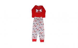 Pijamale lungi pentru copii, Bow Love, Multicolor