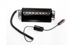 Lampa stroboscopica TL109 8W parbriz Rosu / Albastru
