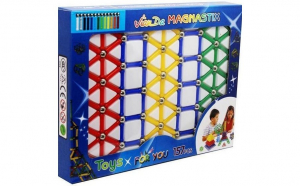 Joc creativ pentru copii, Magnastix, 157 piese