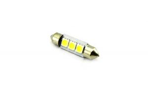 Bec sofit 3 led SMD  led-uri  12V lumina albastra (11x39mm) (set 2 buc.) 85548B