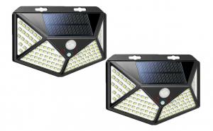 Set 2 lampi cu incarcare solara, senzor