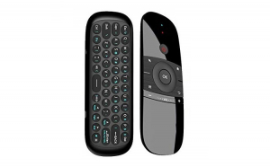 Telecomanda si Tastatura Wireless, cu Air Mouse, AM-2019, Neagra
