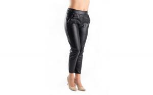 Pantaloni Dama Piele Eco Negri Stella XL
