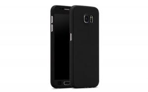 Husa 360 Grade cu Geam Samsung Galaxy S6, Negru