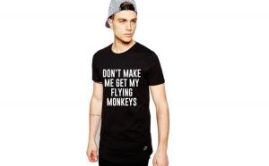 Tricou negru barbati - Flying  Monkeys
