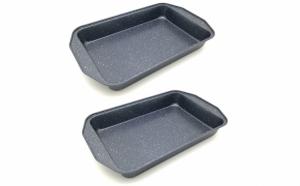 Set 2 tavi cuptor, acoperire non-stick, 39x26x5.5 cm