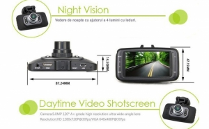 Martorul tau in trafic: Camera DVR Auto full HD, cu nightvision, la doar 119 RON in loc de 372 RON