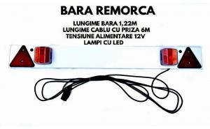 Bara remorca (122 cm) cu lampa SMD 12V