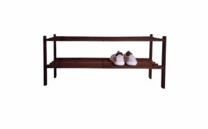 Etajera suport incaltaminte, lemn, 65.6 x 26 x 32 cm