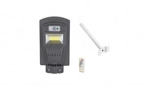 Lampa solara 30W cu telecomanda si suport prindere